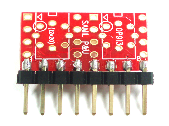 [OP913] To-99 to Dule Op-Amp SIL Adapter
